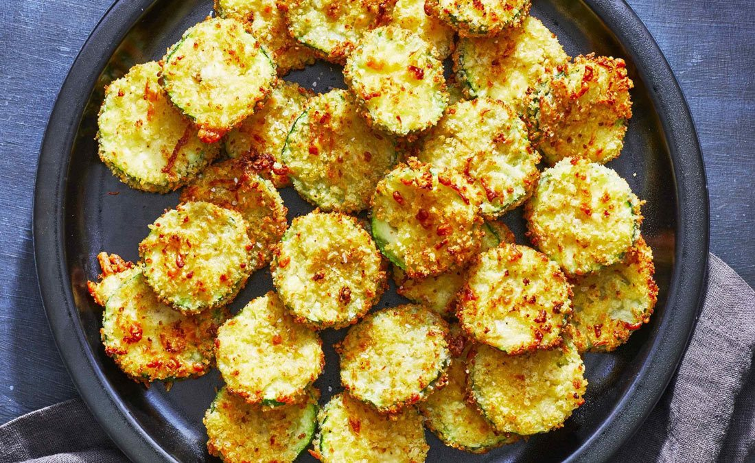 Making of crispy Air Fryer Zucchini Fries