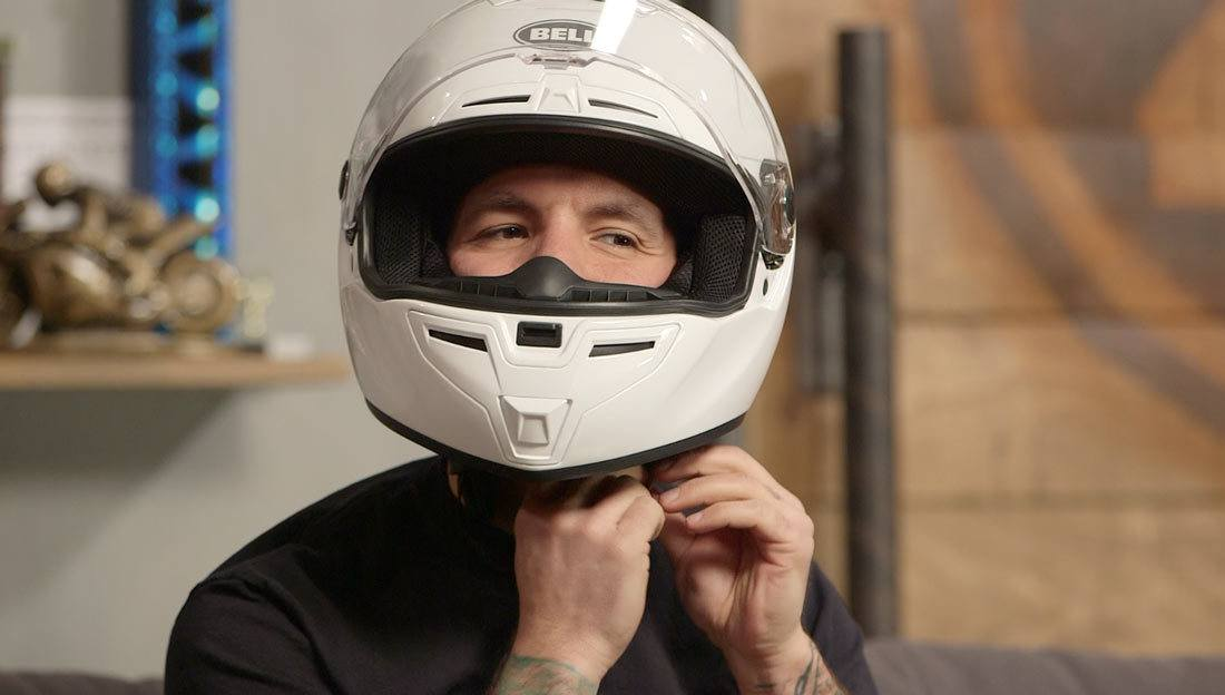 Trying on a Helmet