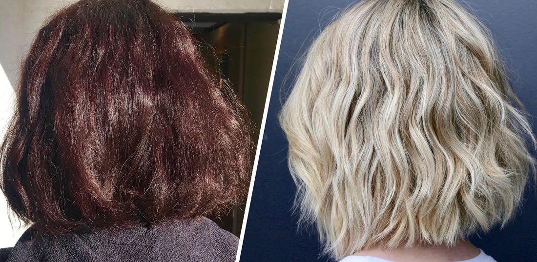 How to remove hair color from blonde hair