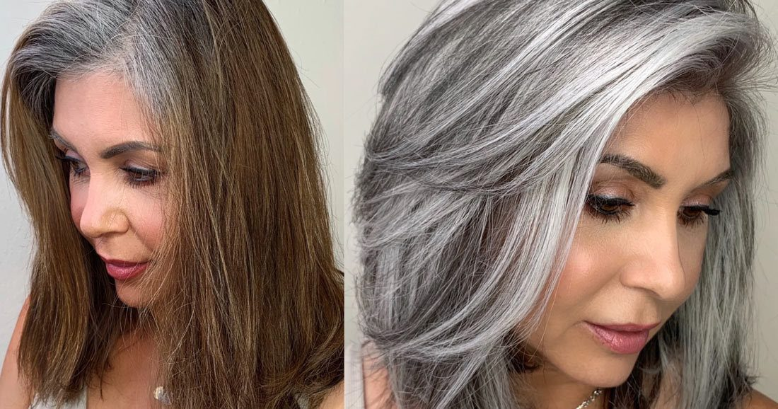 How to remove hair color from grey hair