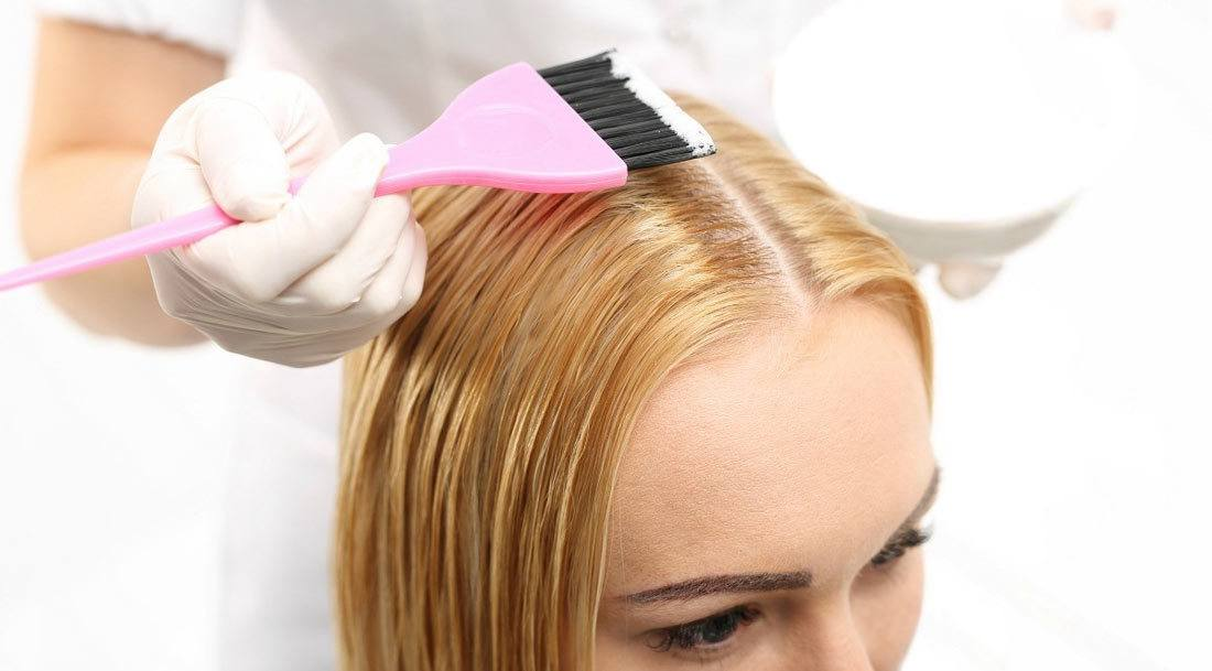 The first step to removing hair dye
