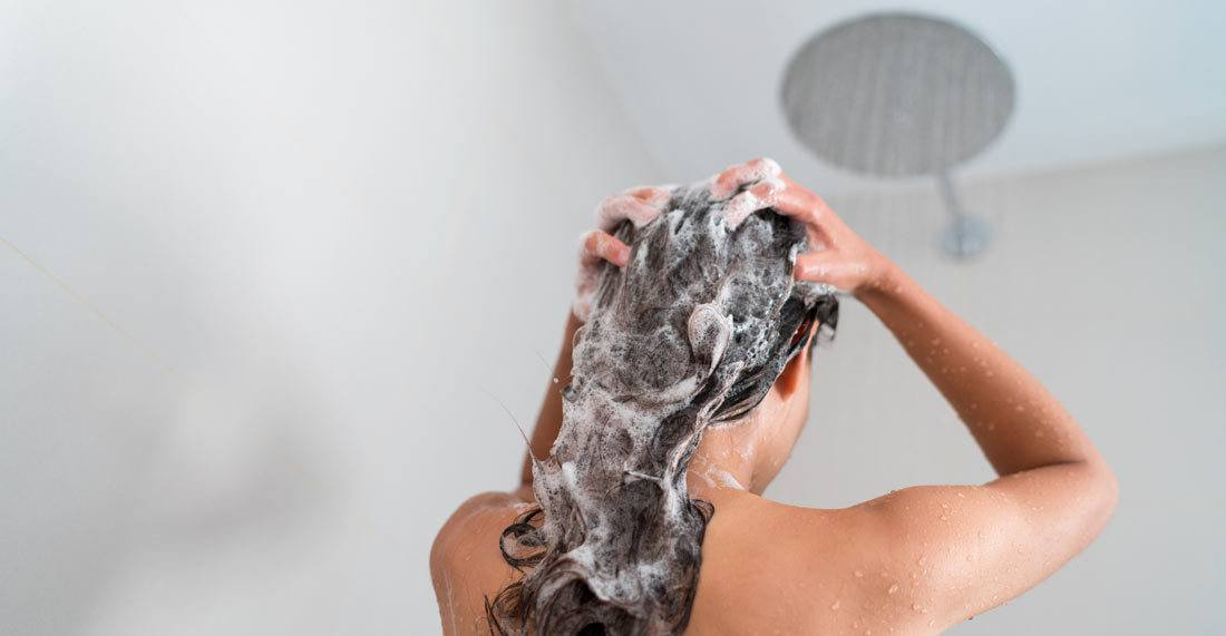 Wash hair with cold water