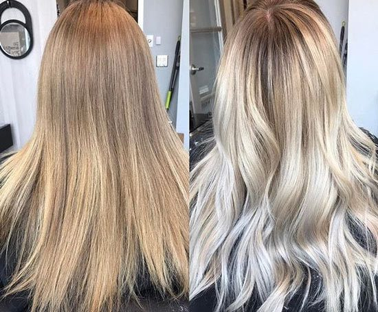 What are the two types of blonde hair?
