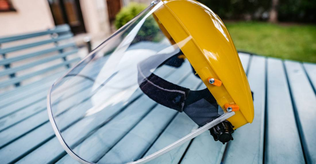 What are the benefits of plastic visors?